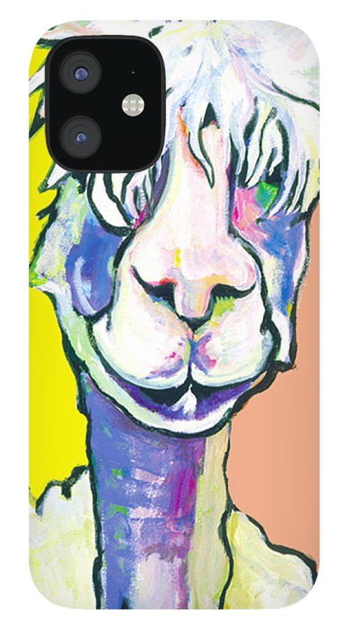 Mountain Animal IPhone 12 Case featuring the painting Veronica by Pat Saunders-White