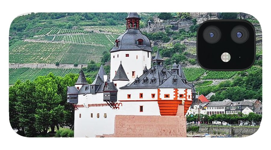 Rhine River IPhone 12 Case featuring the photograph Vertical Vineyards and Buildings on the Rhine by Kirsten Giving