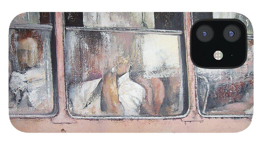 Camello iPhone 12 Case featuring the painting Viajando en Camello-La Habana by Tomas Castano