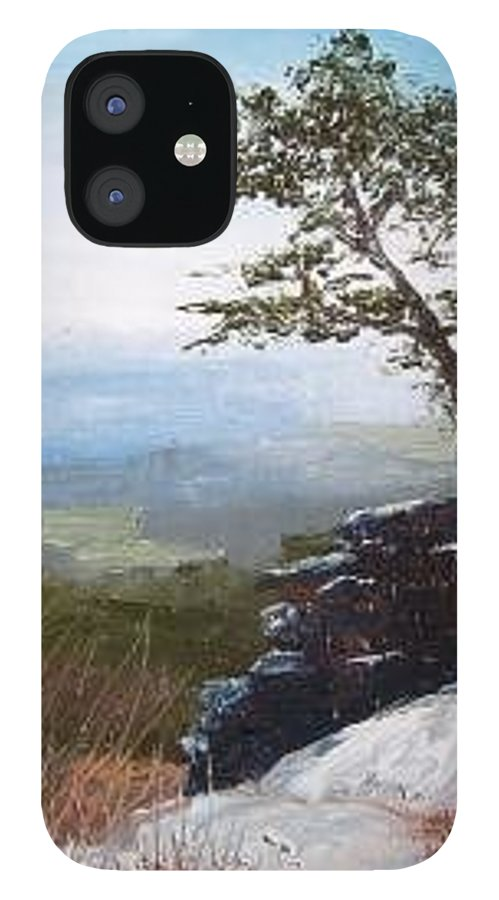 Landscape / Nature / Blue Ridge Mountains IPhone 12 Case featuring the painting View From Pilot Mountain by Tami Booher