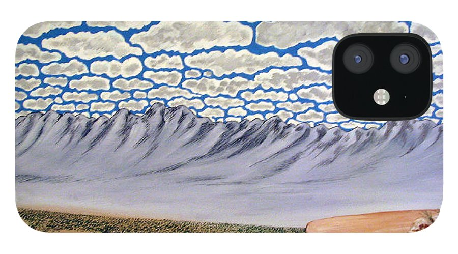 Desertscape IPhone 12 Case featuring the painting View from the Mesa by Marco Morales