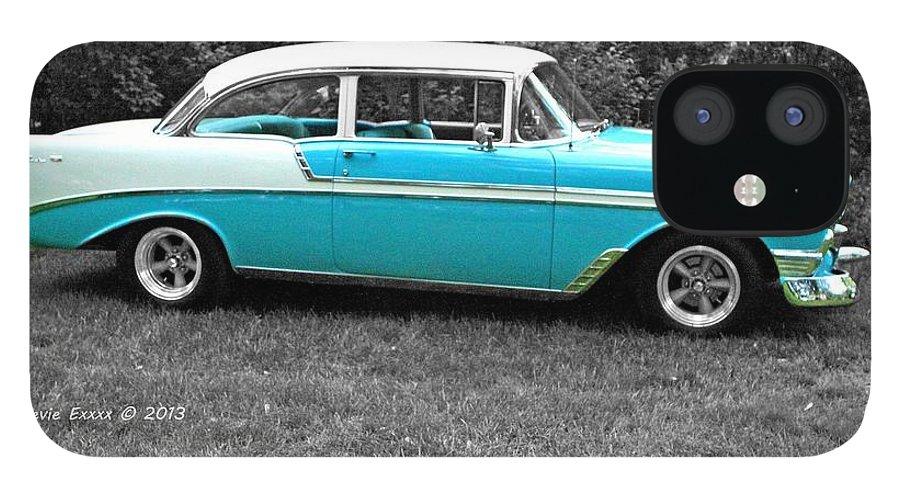 Car Vintage Classic Photograph Time Blue Bw black & White Collect Collection Auto Automobile IPhone 12 Case featuring the photograph Vintage. by Stevie Ellis