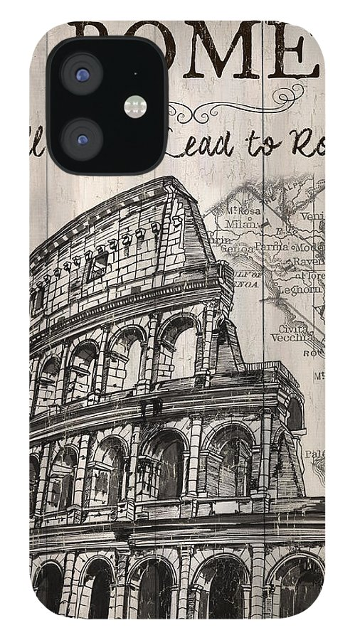 Rome IPhone 12 Case featuring the painting Vintage Travel Poster by Debbie DeWitt