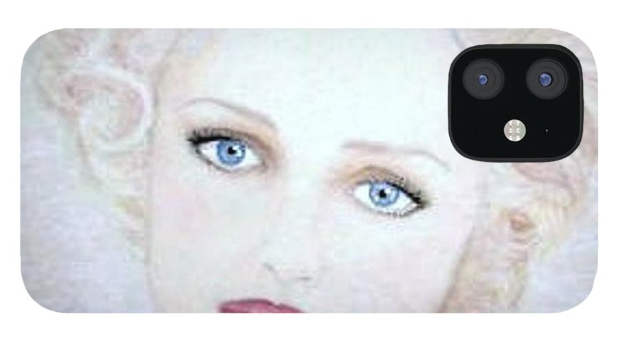 Face IPhone 12 Case featuring the drawing Virginia by Scarlett Royal
