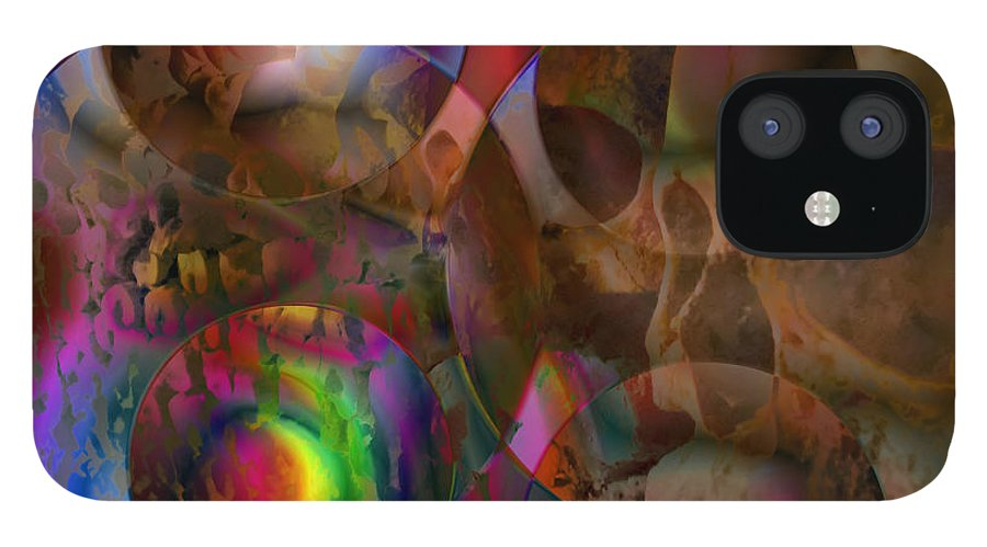 Colors IPhone 12 Case featuring the digital art Vision 24 by Jacques Raffin