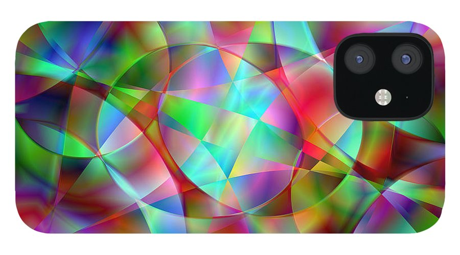 Colors IPhone 12 Case featuring the digital art Vision 27 by Jacques Raffin