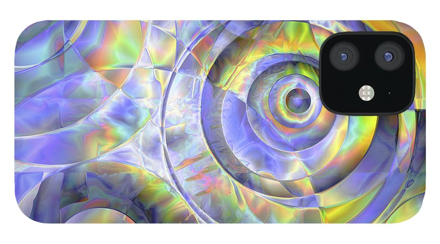 Colors IPhone 12 Case featuring the digital art Vision 37 by Jacques Raffin