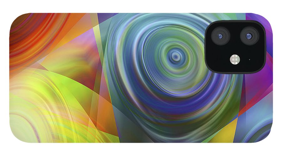 Colors IPhone 12 Case featuring the digital art Vision 39 by Jacques Raffin