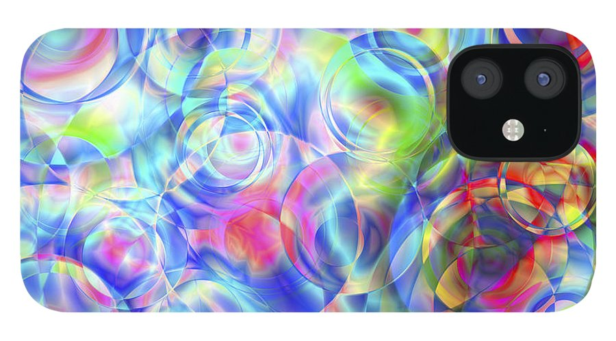 Colors IPhone 12 Case featuring the digital art Vision 4 by Jacques Raffin