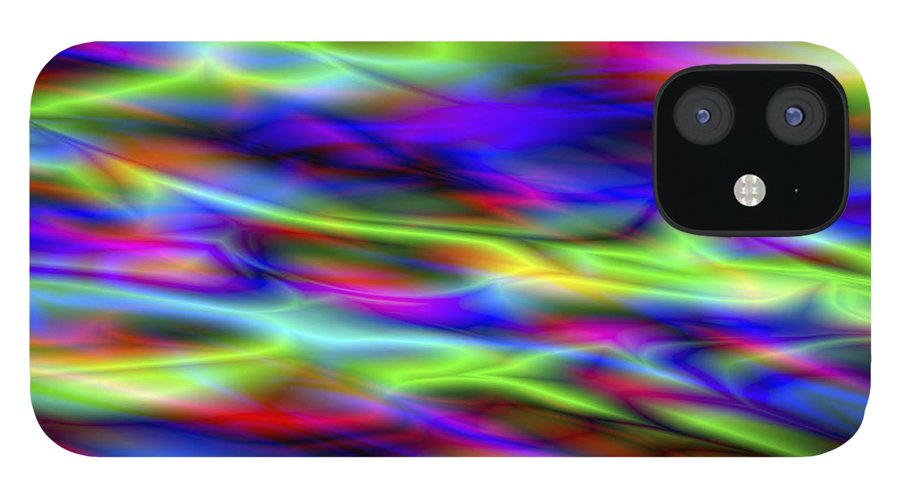 Colors IPhone 12 Case featuring the digital art Vision 5 by Jacques Raffin
