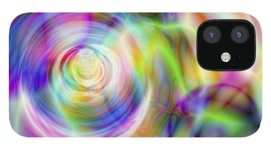 Crazy IPhone 12 Case featuring the digital art Vision 7 by Jacques Raffin