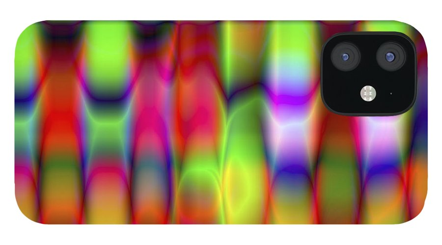 Crazy IPhone 12 Case featuring the digital art Vision 9 by Jacques Raffin