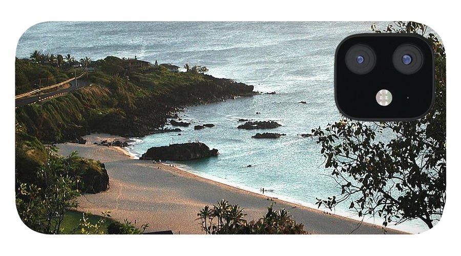The Beach IPhone 12 Case featuring the photograph Waimea Bay by Chandelle Hazen