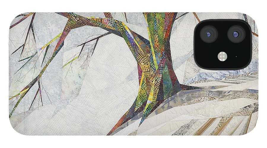 Landscape IPhone 12 Case featuring the tapestry - textile Waiting Out Winter by Linda Beach