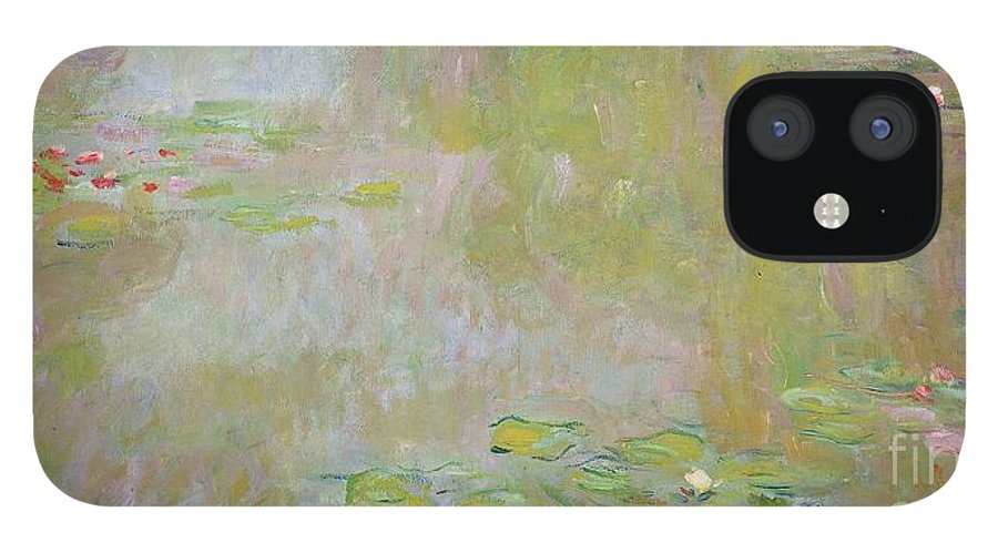 Waterlilies At Giverny IPhone 12 Case featuring the painting Waterlilies at Giverny by Claude Monet