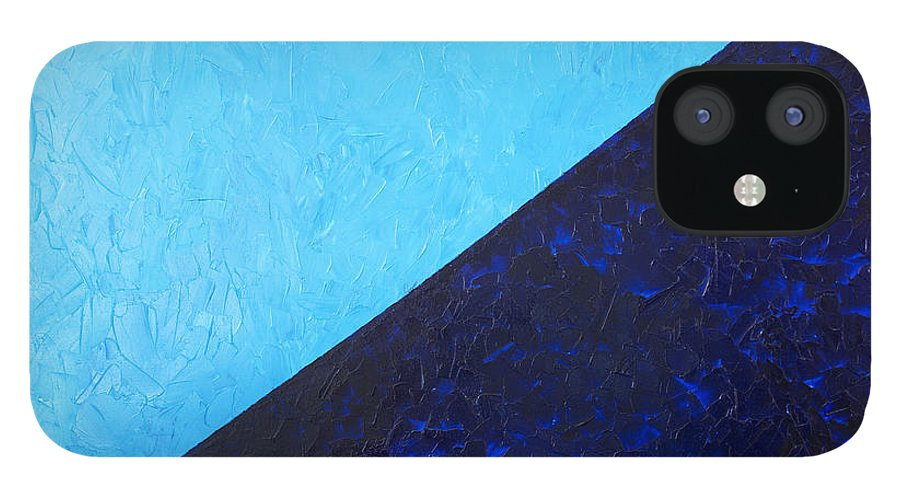 Impasto IPhone 12 Case featuring the painting Water's Edge by JoAnn DePolo