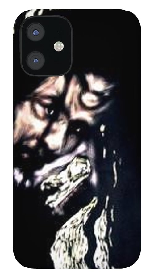 Portrait IPhone 12 Case featuring the mixed media Wear My Crown Down by Chester Elmore