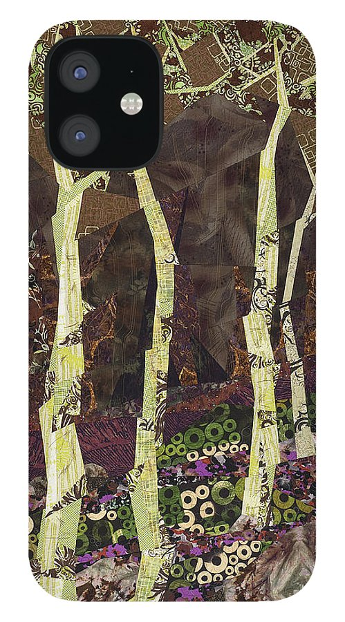 Tree IPhone 12 Case featuring the tapestry - textile Wearing the Scars by Linda Beach