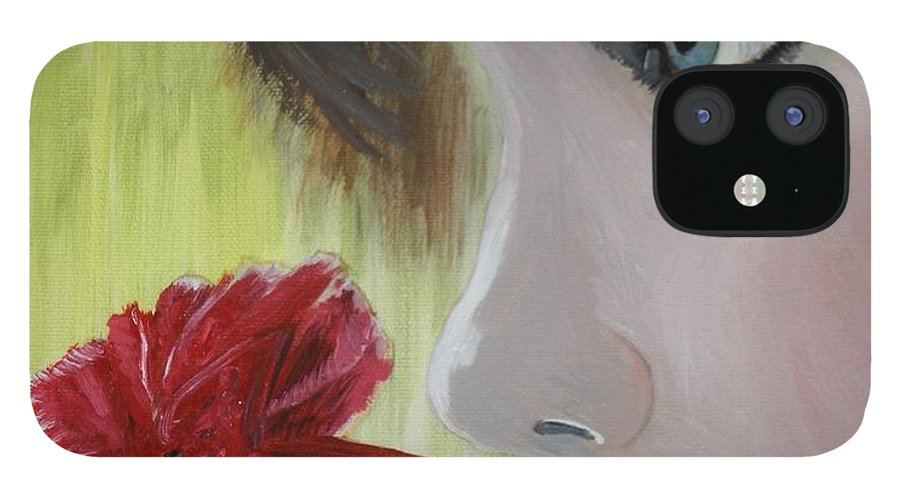 Romance IPhone 12 Case featuring the painting Wedding Rose by J Bauer