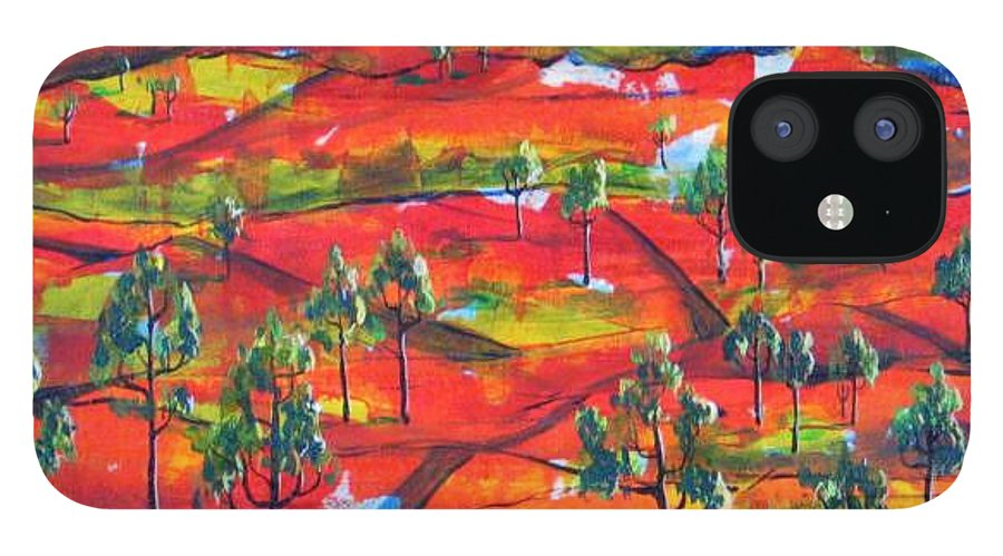 Landscape IPhone 12 Case featuring the painting Where The Road Goes   by Rollin Kocsis