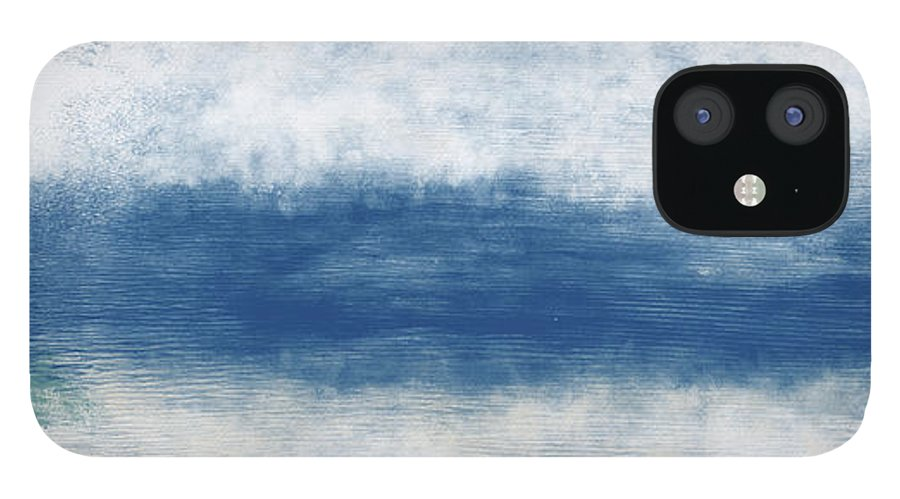 Beach iPhone 12 Case featuring the mixed media Wide Open Ocean- Art by Linda Woods by Linda Woods