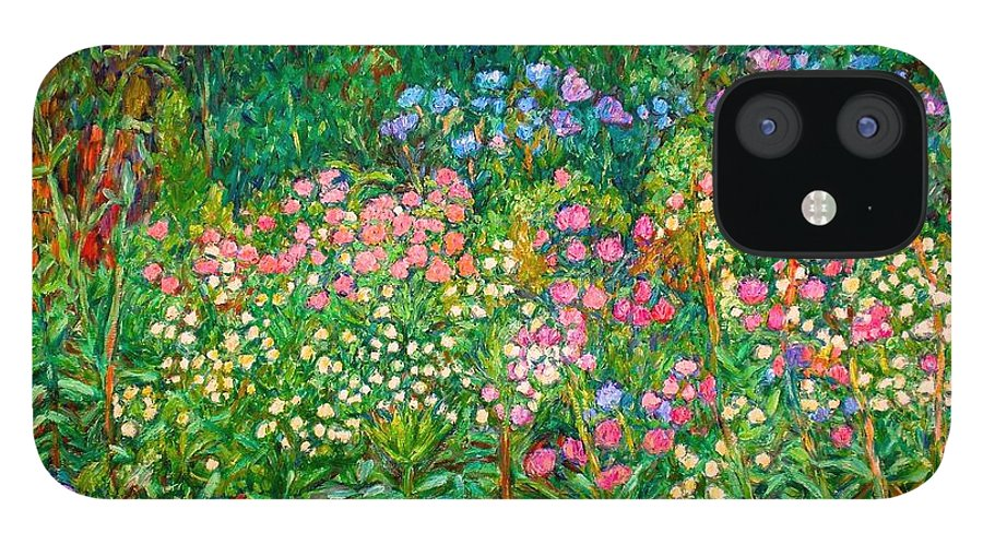 Floral IPhone 12 Case featuring the painting Wildflowers Near Fancy Gap by Kendall Kessler