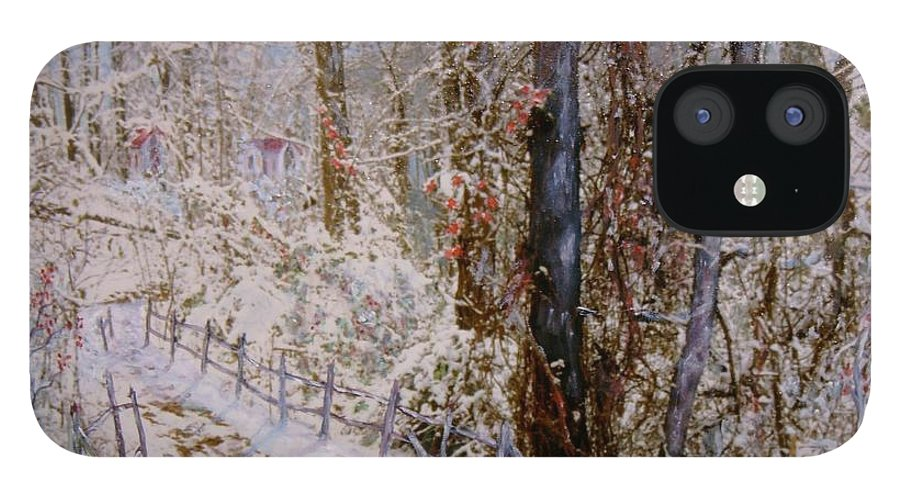 Snow; Trees IPhone 12 Case featuring the painting Winter Wonderland by Ben Kiger