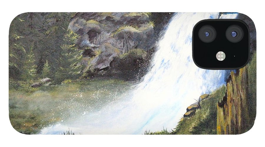 Forest IPhone 12 Case featuring the painting Woodland Respite by Karen Stark