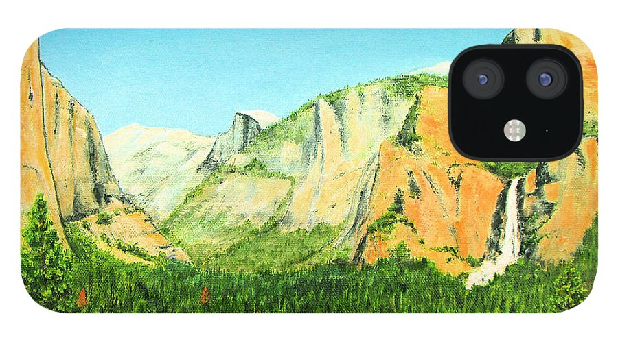 Yosemite National Park IPhone 12 Case featuring the painting Yosemite National Park by Jerome Stumphauzer