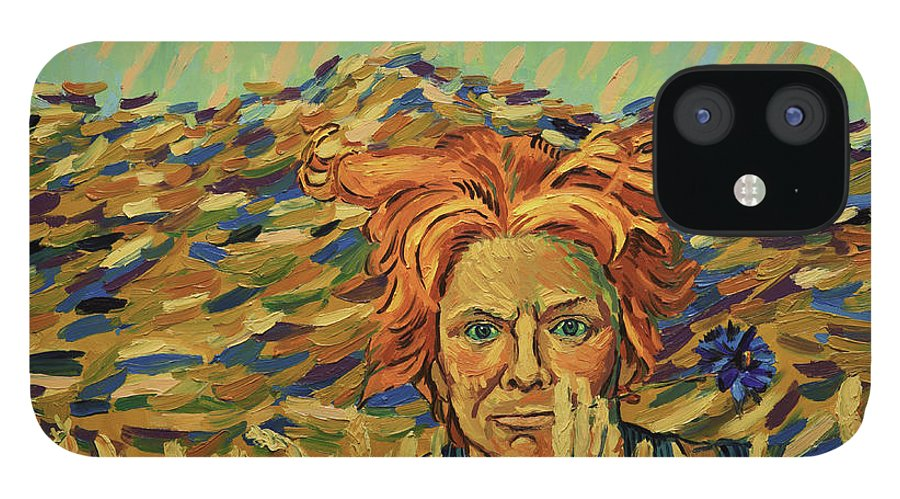 IPhone 12 Case featuring the painting Young Man with a Corn Flower by Nikos Koniaris