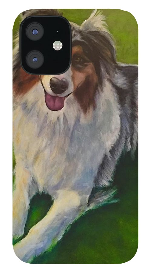 Yuki IPhone 12 Case featuring the painting Yuki by Shannon Grissom