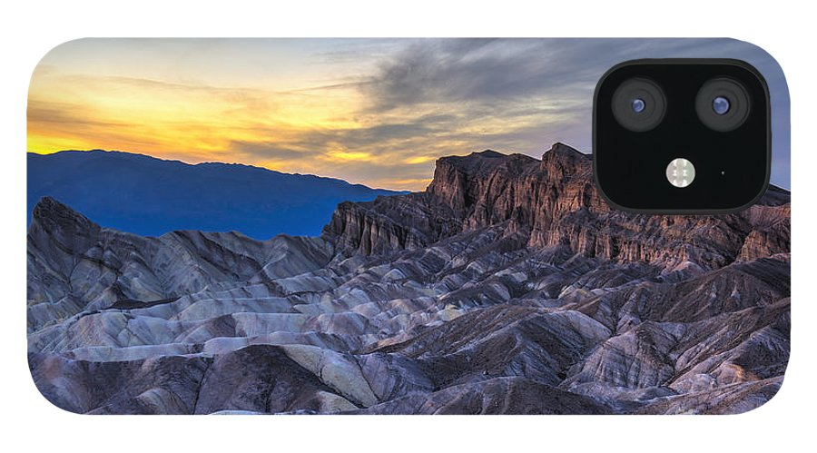 Adventure IPhone 12 Case featuring the photograph Zabriskie Point Sunset by Charles Dobbs