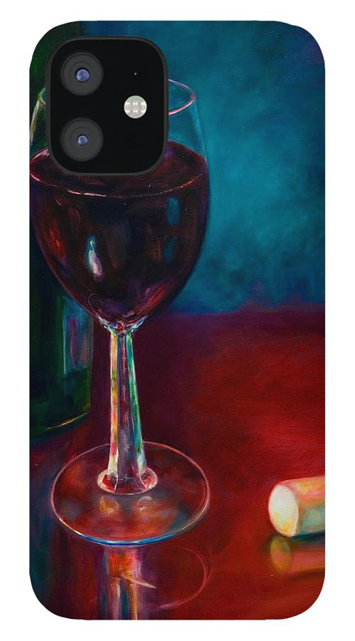 Wine Bottle IPhone 12 Case featuring the painting Zinfandel by Shannon Grissom