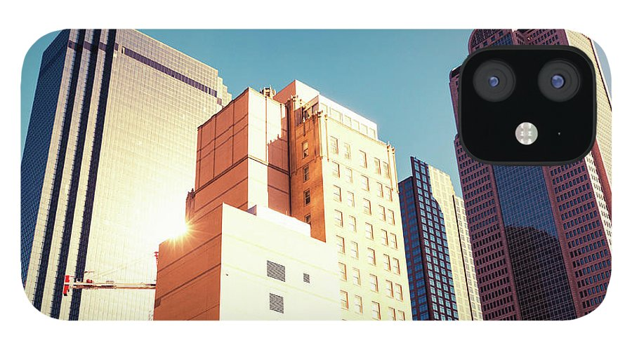 Financial Building iPhone 12 Case featuring the photograph Architecture, Dallas Financial District by Moreiso