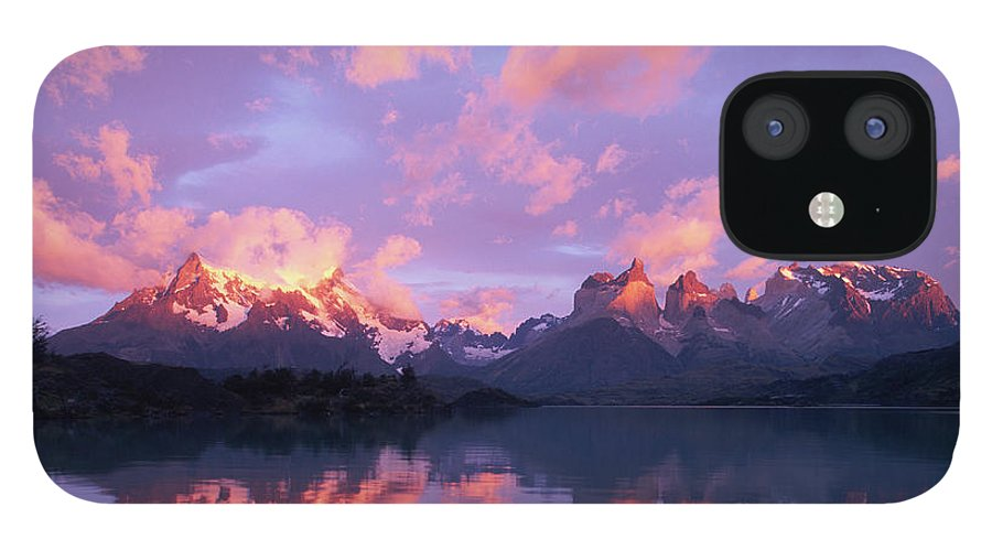 Scenics IPhone 12 Case featuring the photograph Chile, Patagonia, Torres Del Paine Np by Paul Souders