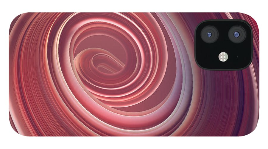 Curve iPhone 12 Case featuring the photograph Colored Twisted Shape. Computer by Andrey a