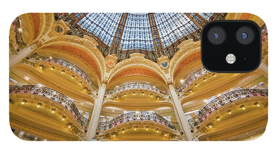 Ile-de-france iPhone 12 Case featuring the photograph Dome And Balconies Of Galeries by Izzet Keribar