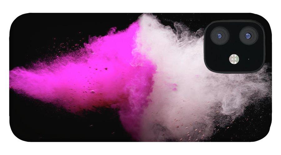 Copenhagen iPhone 12 Case featuring the photograph Explosion Of Colored Powder by Henrik Sorensen