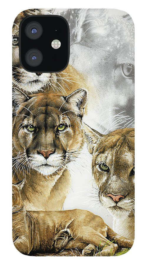 Fierce IPhone 12 Case featuring the painting Fierce by Barbara Keith