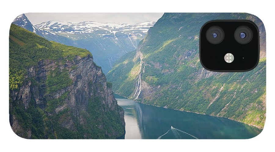 Wake IPhone 12 Case featuring the photograph Geirangerfjord, Western Fjords, Norway by Peter Adams