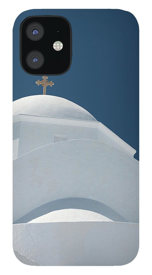 Greek Culture IPhone 12 Case featuring the photograph Greek Chapel by Deimagine
