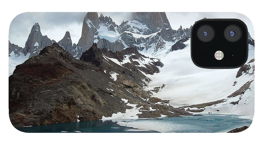 Tranquility IPhone 12 Case featuring the photograph Laguna De Los Tres And Fitz Roy by Courtesy Of Serge Kruppa