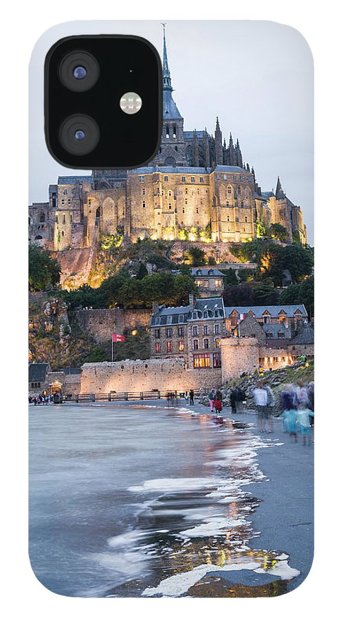 Mont Saint-michel IPhone 12 Case featuring the photograph Le Mont Saint Michel, Normandy, France by John Harper