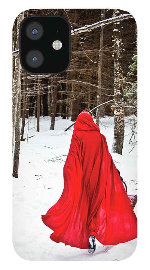 Little Red Riding Hood IPhone 12 Case featuring the photograph Little Red Riding Hood by Trevor Slauenwhite