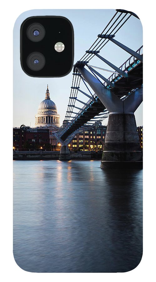 London Millennium Footbridge IPhone 12 Case featuring the photograph London - St Pauls Cathedral And by Ultraforma