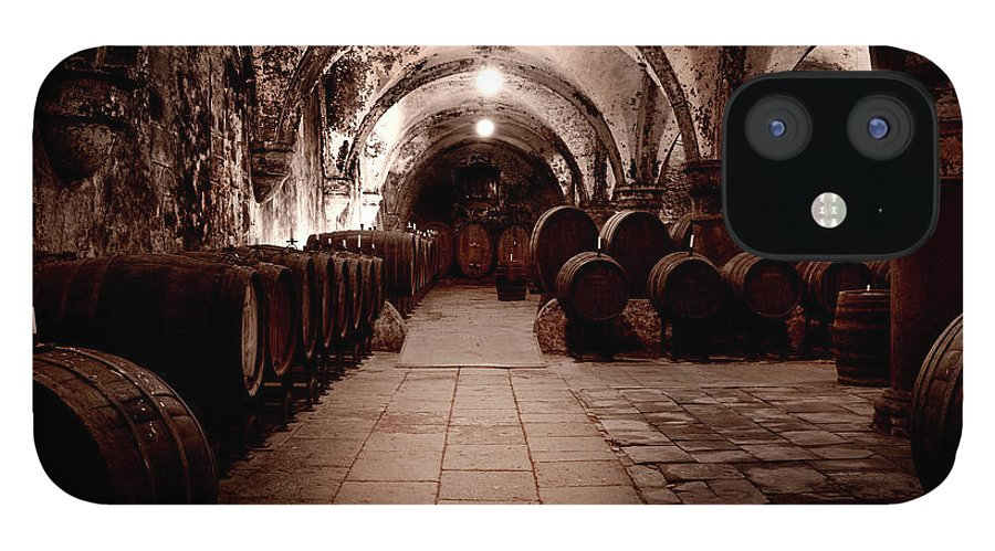 Arch IPhone 12 Case featuring the photograph Medieval Wine Cellar by Ollo