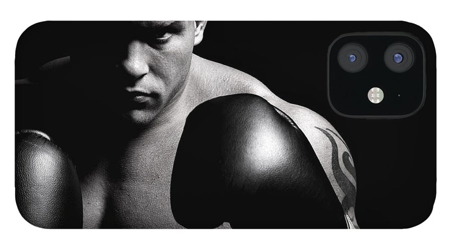 Toughness IPhone 12 Case featuring the photograph Powerful Fighter Portrait by Vuk8691