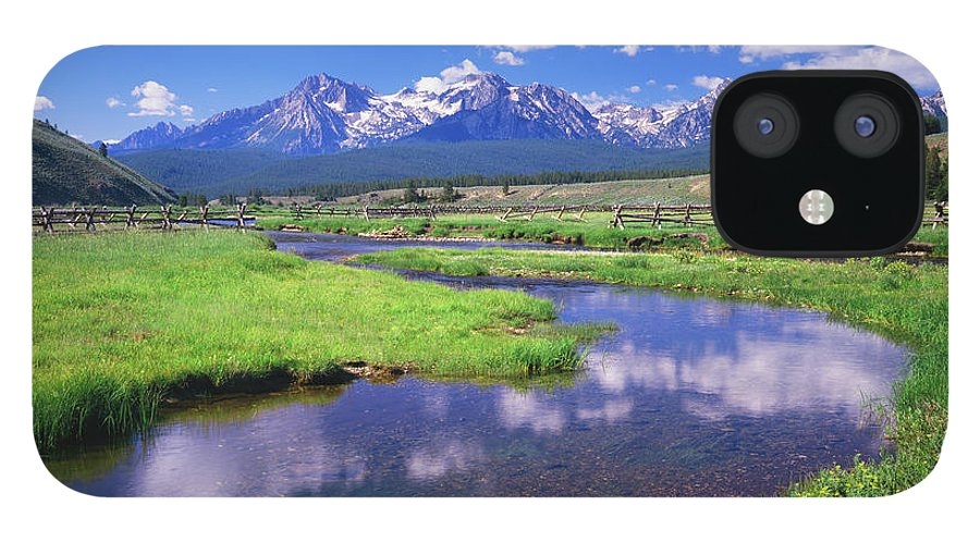 Scenics IPhone 12 Case featuring the photograph Sawtooth Mountain Range, Idaho by Ron thomas