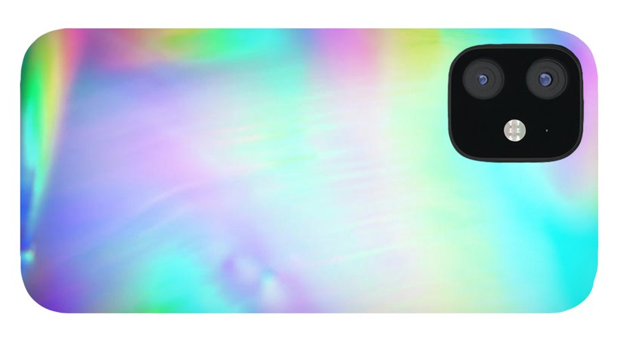 Yellow iPhone 12 Case featuring the photograph Shiny Multi Colored Background by Level1studio