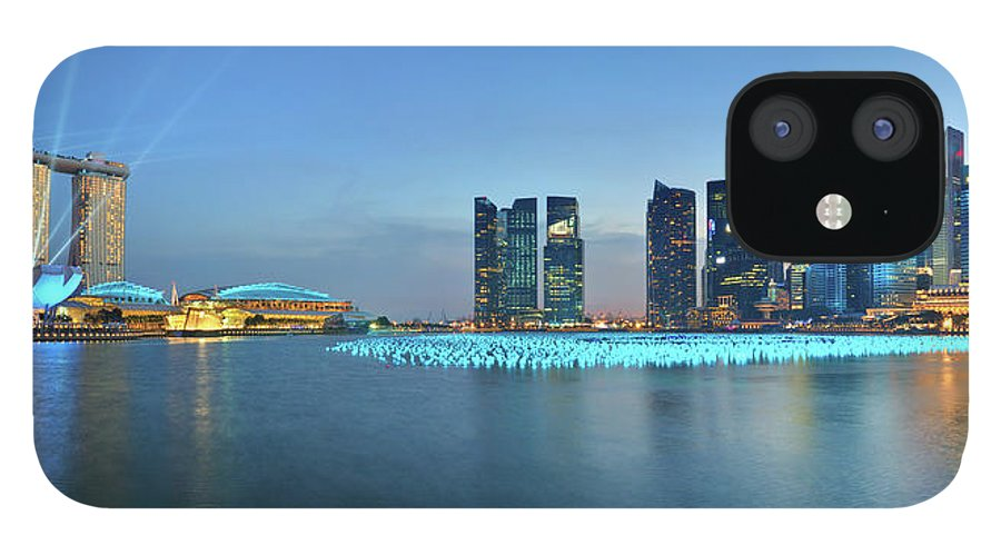 Tranquility IPhone 12 Case featuring the photograph Singapore Marina Bay by Fiftymm99